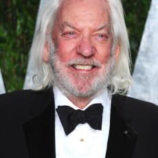Donald Sutherland na pós-festa do Oscar