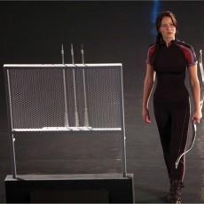 Jennifer Lawrence como Katniss em Jogos Vorazes