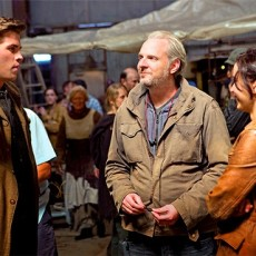 Liam Hemsworth, Francis Lawrence e Jennifer Lawrence