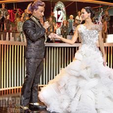 """Katniss e Caesar em """"Jogos Vorazes: Em Chamas"""""""