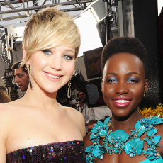 Jennifer Lawrence e Lupita Nyong'o no SAG Awards 2014