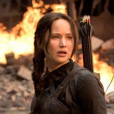 Jennifer Lawrence como Katniss Everdeen em A Esperança: Parte 1